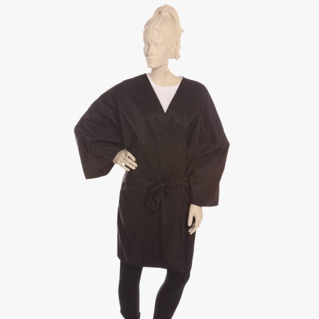 luxury hairdressing gowns for salon, robes and gowns for clients
