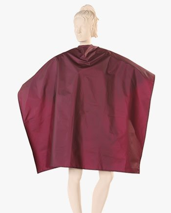 personalized styling capes, stylist cape, styling capes wholesale, customize barber capes brown