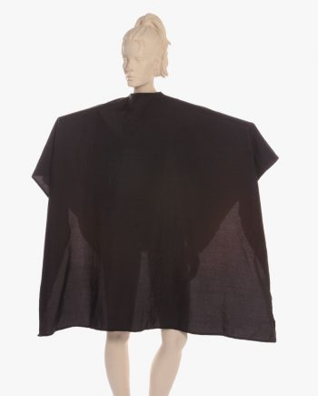 salon capes with logo, custom shampoo capes, custom hair cutting capes black