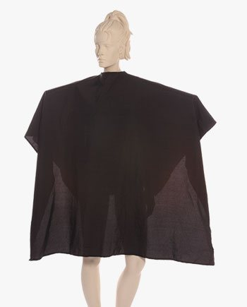custom cutting capes, custom stylist capes, personalized barber capes in black