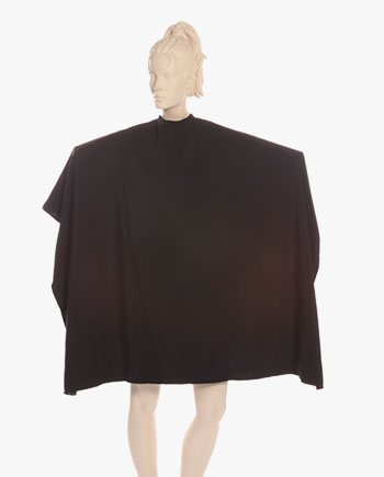 embroidered salon capes black color, custom salon capes with logo, screen printed salon capes