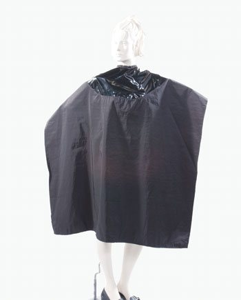 Mulit-Purpose Salon Cape Two Tone Capes in Black Color