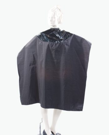 Mulit Purpose Salon Cape Two Tone Capes Salon Wear in black