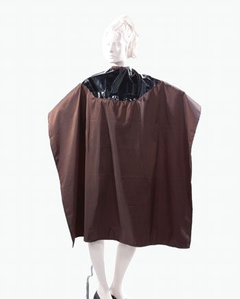 Professional Mulit Purpose Salon Cape Two Tone Capes Silkara Iridescent Fabric in Brown