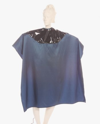Mulit-Purpose Cute Salon Cape Two Tone Capes Silkara Iridescent Fabric in Navy Blue