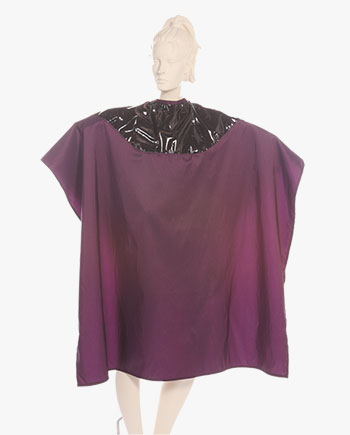 Professional Mulit Purpose Salon Cape Two Tone Capes Silkara Iridescent Fabric in Purple
