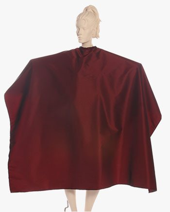 super salon capes burgundy