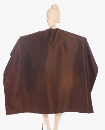 super salon capes in brown as salon apparel
