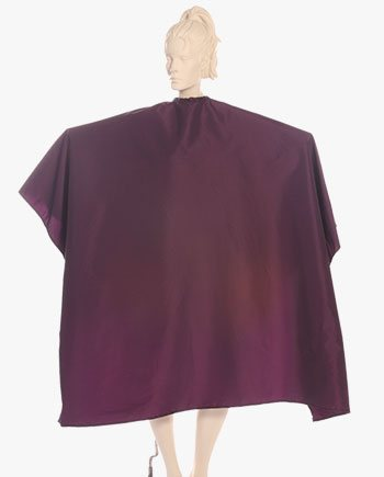 super salon cape in wine berry iridescent fabric the largest cape on the market