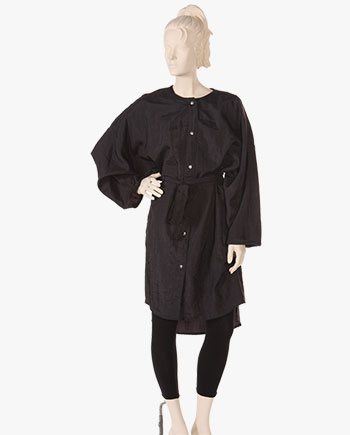 salon wear nylon black Big Shirt