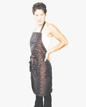 design your own apron customized in leopard print