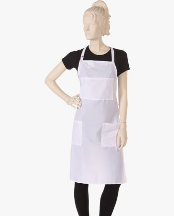salon stylist apron for hair dressers in white color