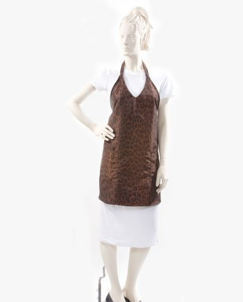 brown modern style V Neck apron wholesale sale USA