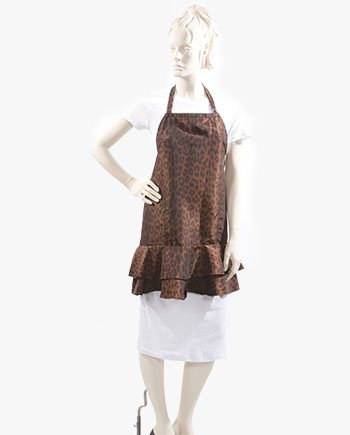 Custom Salon Apron Spa Apron Trendy Leopard Ruffle Apron for barber