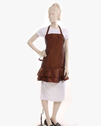 Wholesale Brown Ruffle Apron for sale at best price