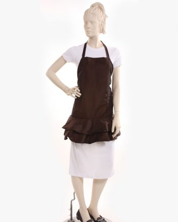 cosmetology aprons in brown