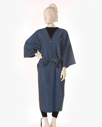 Range of hairdressing gowns in black for professional hair salons
