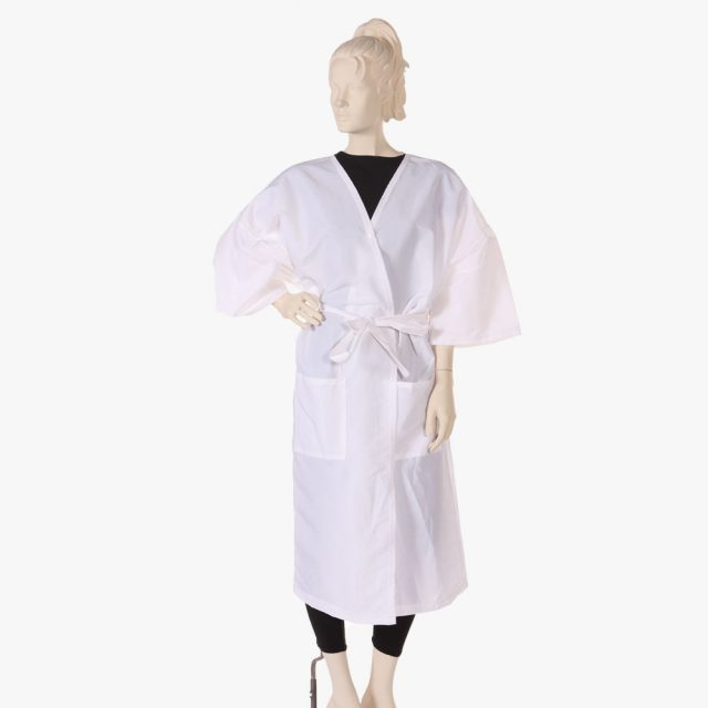 Salon client gowns, hairdressing capes gowns, striped barber gowns