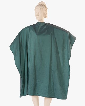 customize salon capes, custom green capes for salons, custom barber capes, beauty salon capes in green color