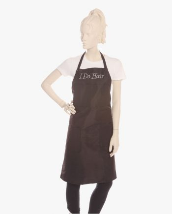personalized hair stylist bib apron, designer hair stylist aprons, custom stylist bib aprons. personalized stylist apron
