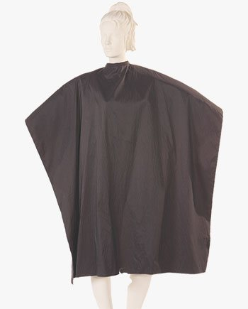 salonwear cape, Multi Purpose Cutting Cape Silkara Iridescent Fabric in Black