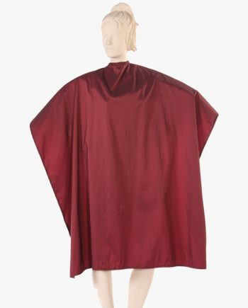 hair stylist capes and aprons, salon chemical capes wholesale, styling capes burgundy color