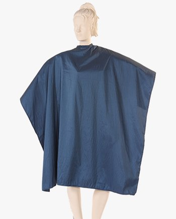 hairdressing capes, cutting capes, salon capes with snaps, hair color cape in navy