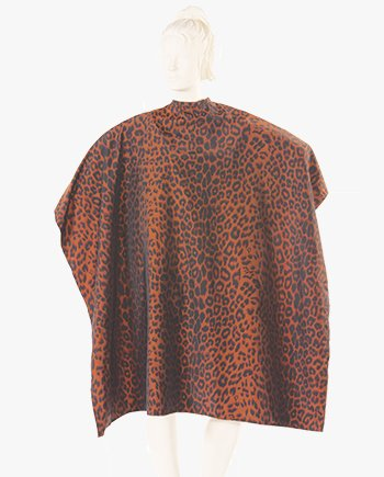 custom barber shop capes leopard print, haircut cape, cheap hair cutting capes, personalized capes for salons