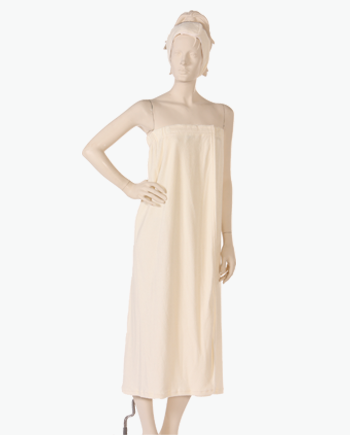 Body Wrap with Hook and Loop Closure Stretch Terry fabric in Cream