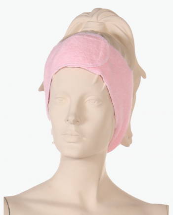 Buy Terry Headband Pink from Salonwear, custom terry cloth headbands for spa