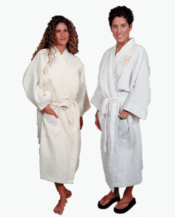 white waffle robe, spa robes for sale, white terry robe, luxury terry cloth robes