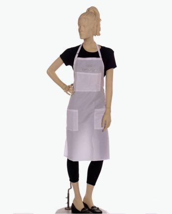 spa specialist text printed bib apron