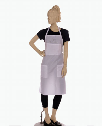 custom spa specialist text printed bib apron for your brand