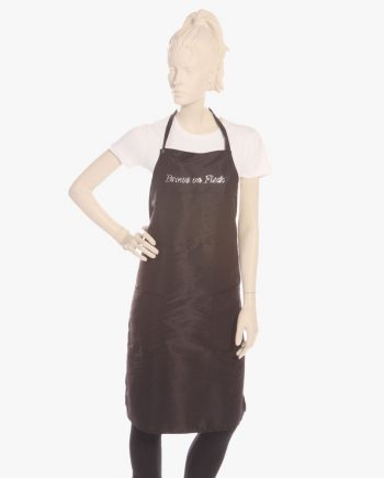 Black bib aprons with rhinestone brows on fleek