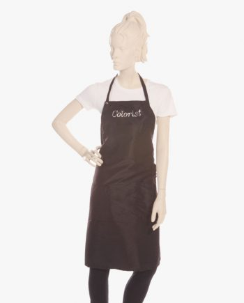 custom hair colorist aprons in black color for women, hair stylist black color aprons for men, hair color apron in black for kids