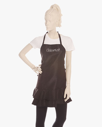 hair colorist aprons, hair color apron, hair stylist color aprons