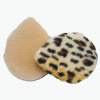 Round Leopard Pattern Facial Makeup Powder Puff Pad