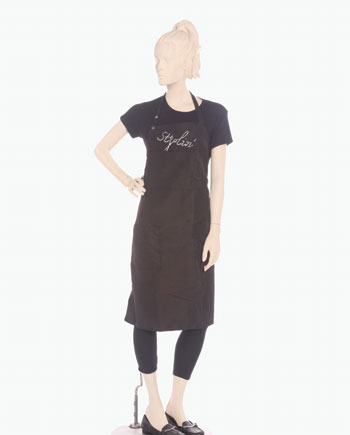 Shop stylist bib apron with price design and size