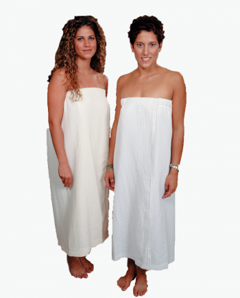 Body Wrap with Hook and Loop Closure Waffle Weave fabric in White